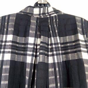 Free People Tops - Free People Baby Blues Plaid Tunic Babydoll Shirt